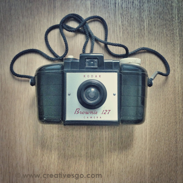 old camera, typical instagram square format image