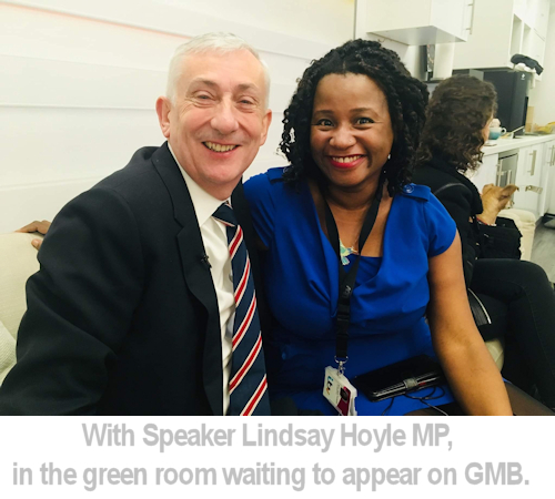 Anne with speaker Lindsay Hoyle.