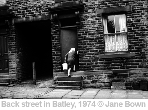 back street in batley copyright jane bown