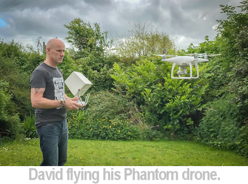 david flying his phantom drone.