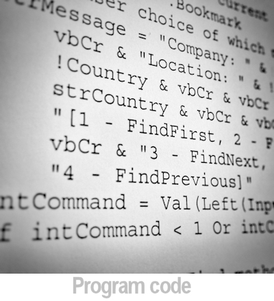 image of program code.