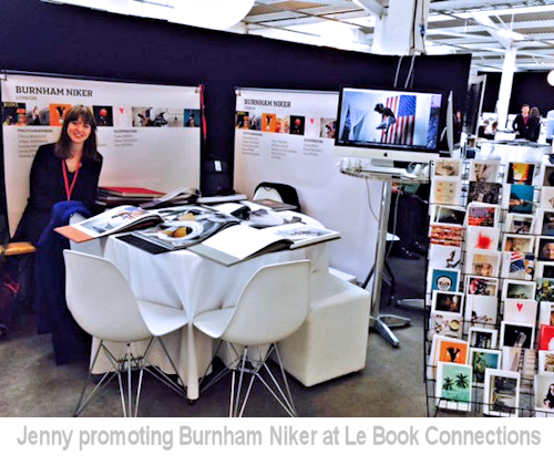 jenny promoting burnham niker at le book connections