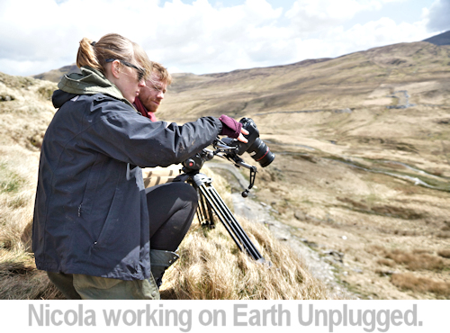 BTS of Nicola working on Earth UNplugged.