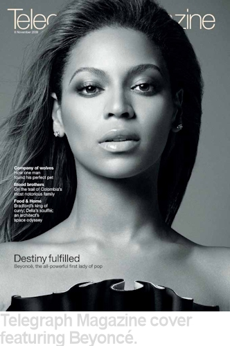 telegraph magazaine cover beyonce
