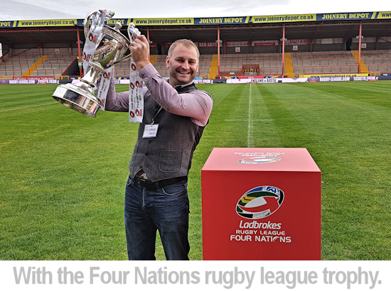 richard with four nations rugby league trophy