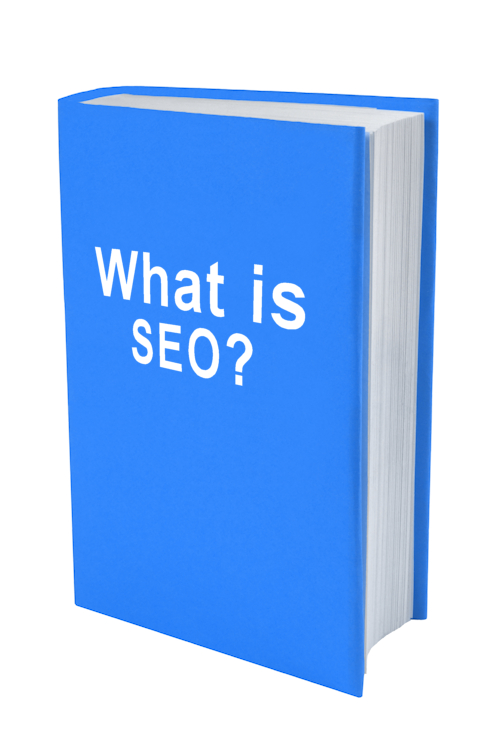 a book with the words what is seo? on the cover.